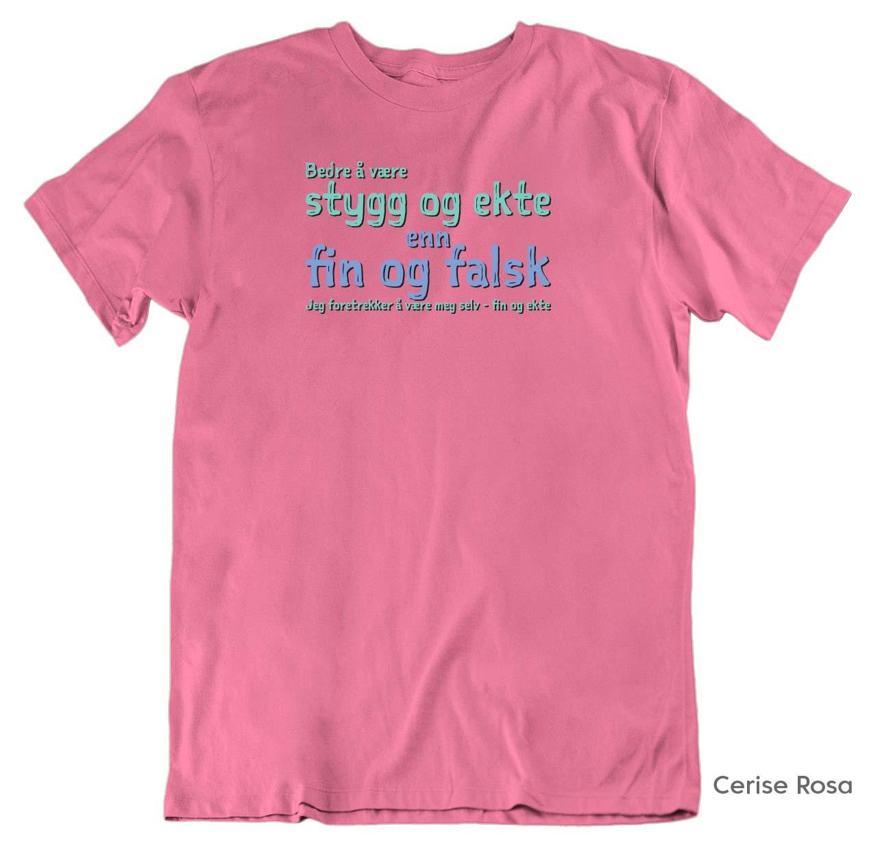 Fin og ekte T skjorte Ekte Bajas morsomme t skjorter med